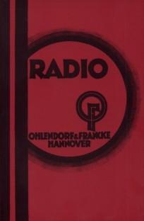 Radio-Katalog Ohlendorf & Francke 1929/1930